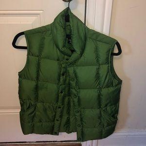 Lands end green puffer vest